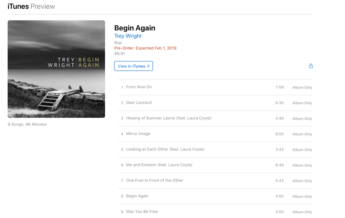 Trey Wright Begin Again preorder